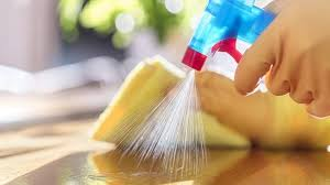 Using Cleaning wipes to Clean the Disinfected Surfaces
